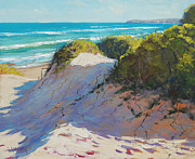 Signed . Nature Paintings - The Entrance Dunes by Graham Gercken