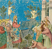 Jerusalem Paintings - The Entry into Jerusalem by Giotto