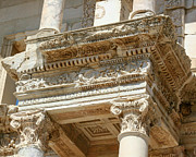 Ephesus Framed Prints - The Ephesus Library Detail Framed Print by Sabrina L Ryan