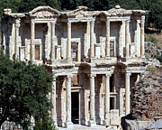 Corinthian Posters - The Ephesus Library in Turkey Poster by Sabrina L Ryan