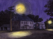 Ashcan School Paintings - The Erie Inn by Arthur Barnes