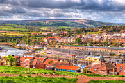 River Esk Prints - The Esk and Whitby Print by David  Hollingworth