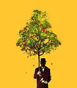 Tree Surreal Framed Prints - The ethical gentleman Framed Print by Budi Satria Kwan