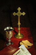 Chalice Posters - The Eucharist Poster by Donald Davis