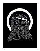 Orthodox Drawings Prints - The Eucharist Print by Peter Melonas