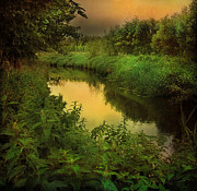 Roy Mcpeak Prints - The Evening Brook Print by Roy McPeak