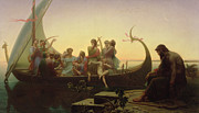Viking Ship Paintings - The Evening by Charles Gleyre