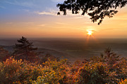 Autumn Scenes Prints - The Evening Star Print by Debra and Dave Vanderlaan