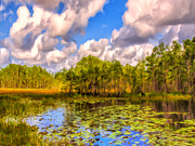 Florida Gators  Paintings - The Everglades by Dominic Piperata