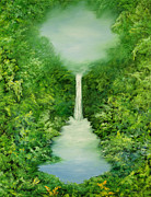 Mystical Painting Framed Prints - The Everlasting Rain Forest Framed Print by Hannibal Mane