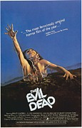 Vintage Posters Art - The Evil Dead Poster by Sanely Great