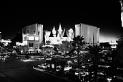 Excalibur Prints - the excalibur resort hotel and casino on Las Vegas boulevard at night Nevada USA Print by Joe Fox