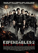 Sylvester Stallone Framed Prints - The Expendables 2  Framed Print by Movie Poster Prints