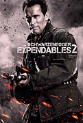 Sylvester Stallone Framed Prints - The Expendables 2 Schwarzenegger Framed Print by Movie Poster Prints