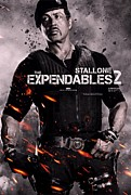 Sylvester Stallone Posters - The Expendables 2 Stallone Poster by Movie Poster Prints