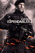 Film Print Posters - The Expendables 2 Statham Poster by Movie Poster Prints