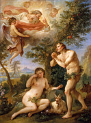 Famous Artists - The Expulsion from Paradise by Charles-Joseph Natoire