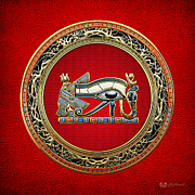 The Symbol Of Ra Framed Prints - The Eye of Horus Framed Print by Serge Averbukh