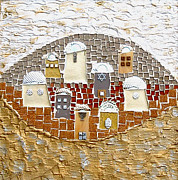 Mosaic Mixed Media - The eye of Jerusalem by Reli Wasser