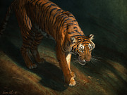 Blaise Prints - The Eye of the Tiger Print by Aaron Blaise
