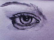 Featured Drawings - The Eye by Umasankar Sankar