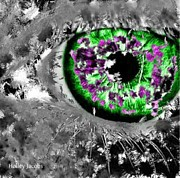 Disability Digital Art - The Eyes 13 by Holley Jacobs