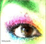 Disability Digital Art - The Eyes 3 by Holley Jacobs