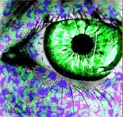 Disability Digital Art Prints - The Eyes 8 Print by Holley Jacobs