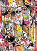 Outsider Art Mixed Media - The Eyes Have It by Gail Miller