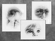 Baby Digital Art - The eyes have it by Gun Legler