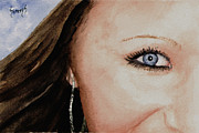 Eye Paintings - The Eyes Have It - McKayla by Sam Sidders