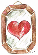 Deceit Framed Prints - The Eyes Mirror The Heart Framed Print by Teresa White