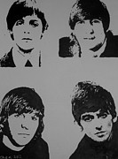 The Beatles Portraits Posters - The Fab Four Poster by Cherise Foster