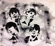 Wade Edwards Art - The Fab Four by Wade Edwards