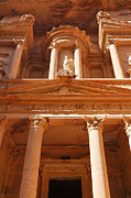 Treasury Framed Prints - The facade of Al Khazneh in Petra Jordan Framed Print by Robert Preston