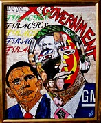 Obama Paintings - The Face Behind The Man by Nevets Killjoy