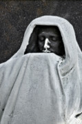 Ghastly Photo Posters - The Face of Death - Graceland Cemetery Chicago Poster by Christine Till