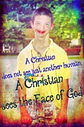 Smiling Jesus Art - The Face Of God by Michelle Greene Wheeler