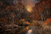 Blackstone River Prints - The Fading Glow of Fall Print by Robin-lee Vieira