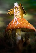 Kelly Digital Art Posters - The Faerie muse Poster by Valerie Anne Kelly