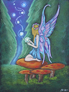 Mushroom Pastels - The Faery Lights by Diana Haronis