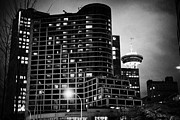 Fairmont Prints - the fairmont waterfront hotel and skyline Vancouver BC Canada Print by Joe Fox