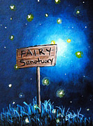 Faery Artists Painting Posters - The Fairy Sanctuary by Shawna Erback Poster by Shawna Erback