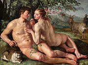 Famous Artists - The Fall of Man by Hendrik Goltzius