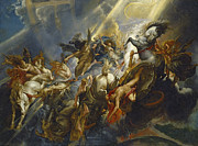 Chariot Posters - The Fall of Phaeton Poster by  Peter Paul Rubens