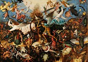 Conversation Piece Prints - The Fall of the Rebel Angels Print by Pg Reproductions