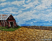 Rural Life Paintings - The Fall by Theresa Crubaugh