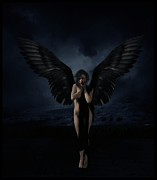 Gothic Art Posters - The Fallen Angel Poster by Cinema Photography