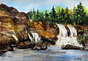 Waterfalls Paintings - The Falls by Lisa Fertig