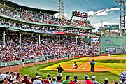 Red Sox Metal Prints - The Fans 2 Metal Print by Dennis Coates